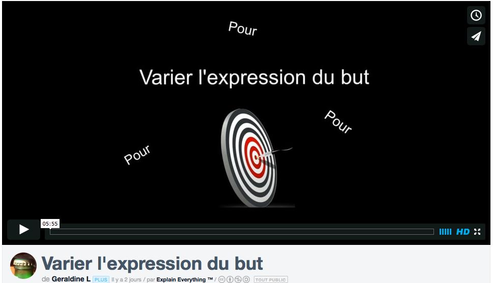 Enseigner la grammaire avec la classe inversée en FLE : retour d'expérience (varier les expressions dubut)