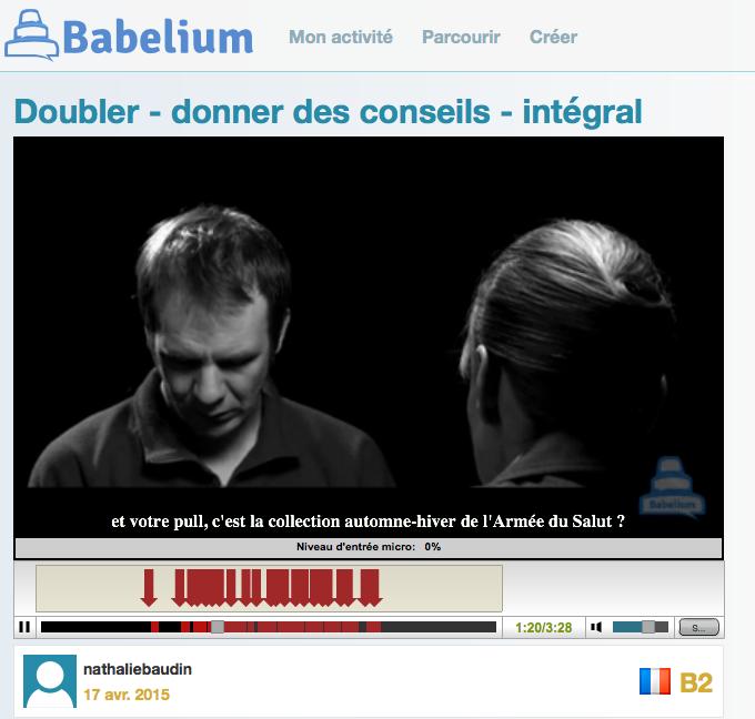 Travailler en autonomie la production orale en langues étrangères avecBabelium