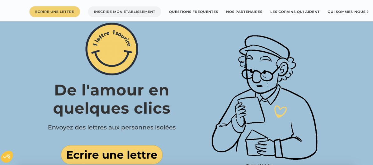 «1 lettre 1 sourire», un site pour envoyer des lettres aux personnes âgées isolées#FLE
